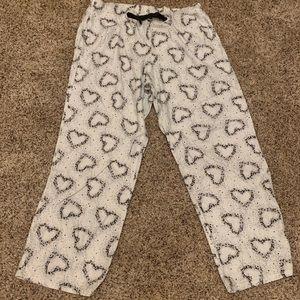 Victoria secret flannel heart/floral pj bottoms